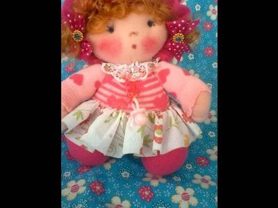 Muñeco de trapo con medias