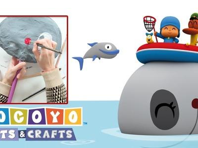 Pocoyo Arts & Crafts: Ballena de papel | CARNAVAL