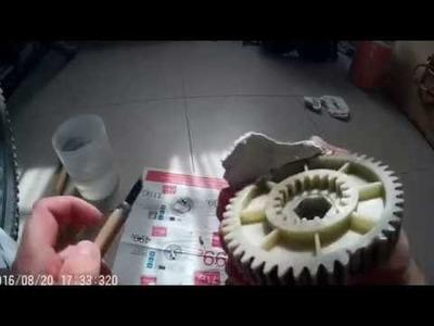 Reparar rueda dentada para un engranaje de plastico