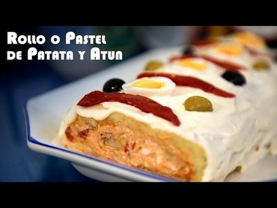 Rollo o Pastel de Patata y Atun Rico, Facil y  Economico