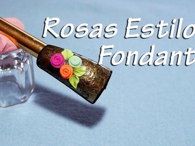 Rosas 3D Acrílico Estilo Fondant - Súper fáciles!!