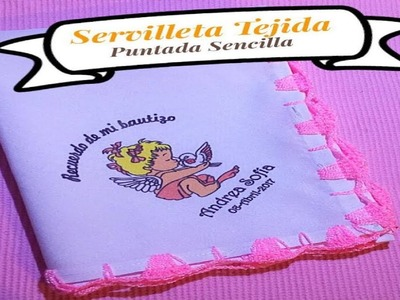 Servilleta Tejida ( Puntada Sencilla )
