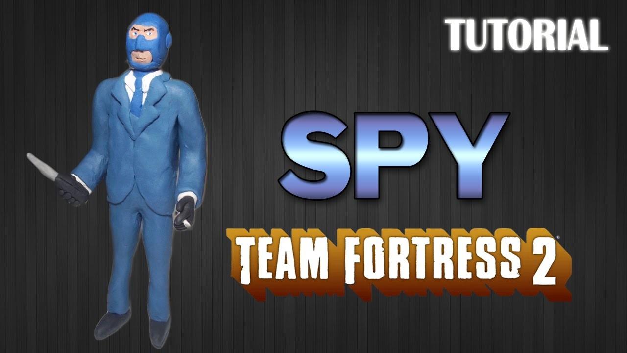 Tutorial Spy en Plastilina. Team Fortress 2. How to make Spy with Clay