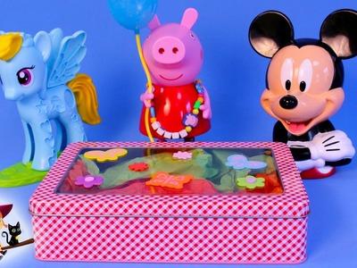 Aprende Formas con Peppa Pig Mickey Mouse y Rainbow Dash Caja Sorpresa