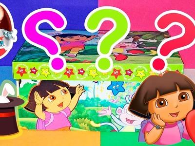 Caja sorpresa de Dora la exploradora con huevos kinder en español