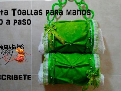 CLASE VIII - PORTA TOALLAS CON BOTELLAS PET Y PUNTO COPITO - I PARTE    Manualidades Anny