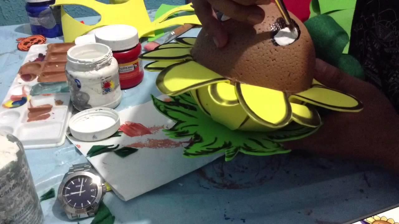 Cómo se hace un Girasol Plantas Vz Zombies especial de Halloween