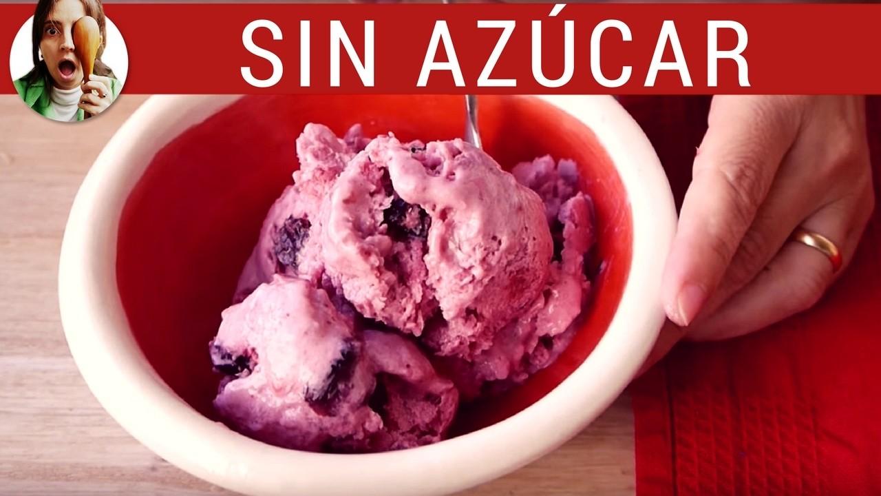 Cómo hacer helado SIN AZÚCAR. Receta de postres saludables - Paulina Cocina