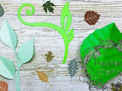 ???? COMO HACER HOJAS DE PAPEL | FLORES GIGANTES DE PAPEL | MOLDES GRATIS | HOW TO MAKE PAPER LEAVES