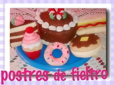 #cómo hacer pastelitos de fieltro#