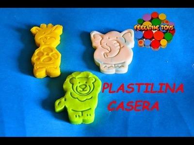 COMO HACER PLASTILINA CASERA PARA NIÑOS. HOW TO MAKE PLAYH DOUGH. DIY