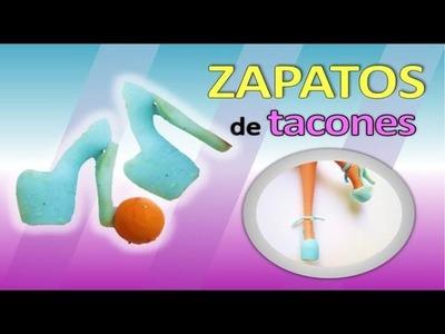 CÓMO HACER TACONES ???? ????de SILICÓN para muñecas-Mas FACILES. How to make shoes