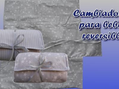 Como hacer un cambiador para bebé de viaje reversible. How To Sew Baby Changing Mat