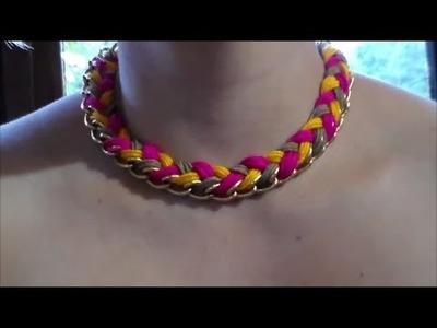 Como Hacer un Collar Facil con Una Cadena e Hilo Macrame