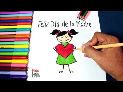 Cómo hacer un dibujo simple para Mamá (Feliz Día de la Madre) | How to Make an Easy Drawing for Mom