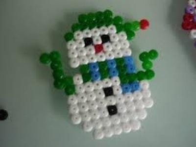 Como hacer un muñeco de nieve con perler beads