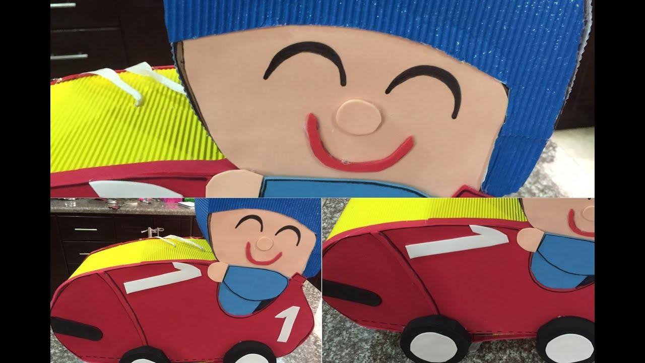 Como Hacer Una Pinata Pocoyo Facil En Forma De Auto O Carro