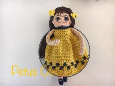 Como tejer vestido muñeca Romina By Petus CUARTA PARTE