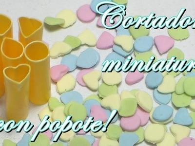 Cortadores para confetti en Porcelana fría. (Cold porcelain)
