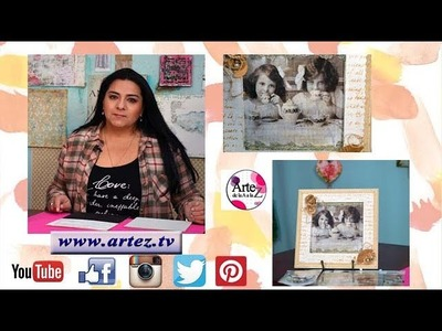 Cuadro con Filminas y técnica mixta- Laura Patterson