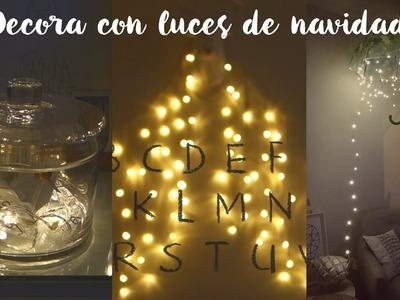 Decora tu cuarto con luces de navidad - DIY