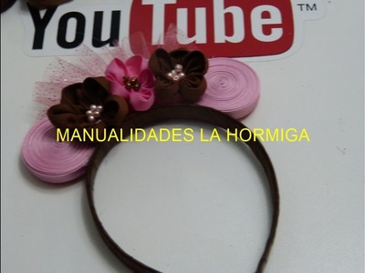 Diadema de Minnie Mouse, Tiara de flores pequeñas, Como Hacer Lazos