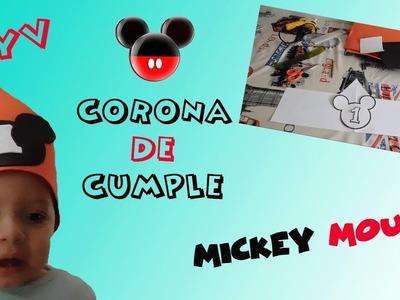 DIY: Como hacer Corona de Cumpleaños de MICKEY MOUSE con Goma Eva | Mami a Tres