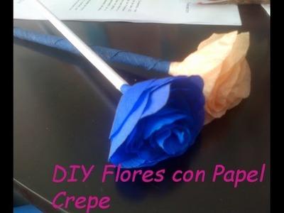 ♥DIY Cómo Hacer Flores Con Papel Crepé♥