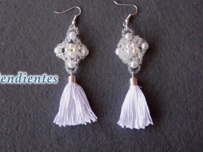 # DIY - Pendientes con flecos # DIY - fringed earrings