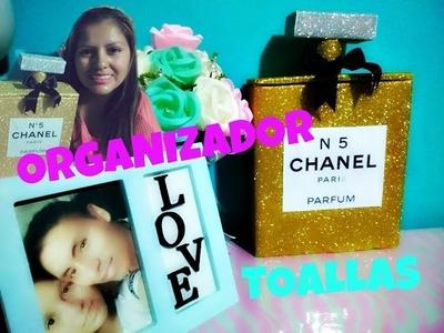 DIY Perfume Chanel. organizador de toallas