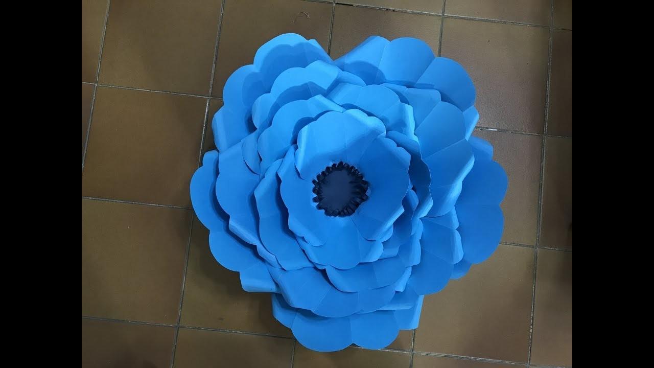 Flor Gigante 25 Hecha en Cartulina Giant flower made in paper