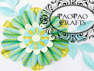 FLOR GIGANTE DE PAPEL | MOLDES GRATIS | HOW TO MAKE PAPER FLOWER