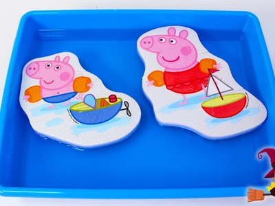 Juguetes de Baño de Peppa Pig 4 Puzzles Diferentes