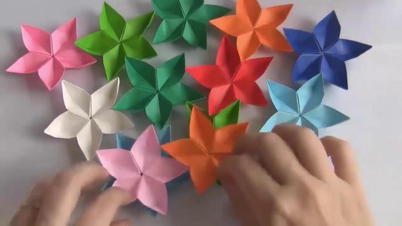 Origami flores tutorial: Cómo hacer flores de origami fácil