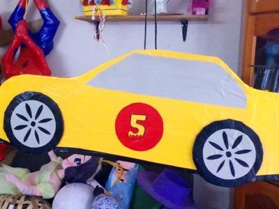 Piñata de carro sensillo facil y rapido