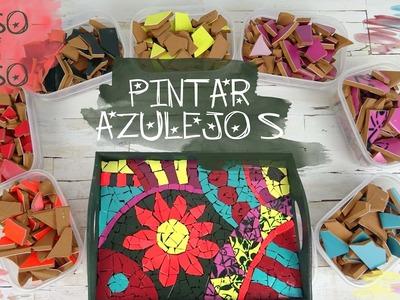 PINTAR AZULEJOS, con pinturas en spray, para DECORACIÓN y MOSAICOS - NOVASOL SPRAY
