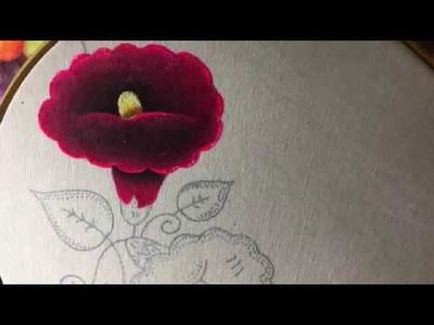 Pintura En Tela Flor Campanilla Con Cony
