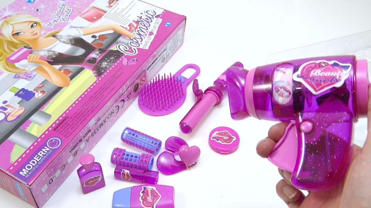 Set De Belleza Maquillaje Para Niñas De Juguete Secador Beauty Makeup Set For Girls