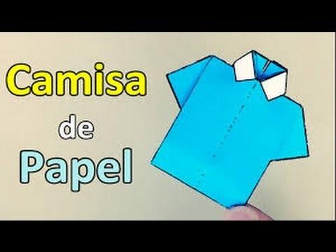 Tutorial Como Hacer Una Camisa De Papel Origami