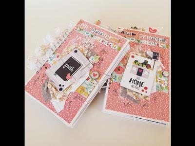 Tutorial Scrap. ¿ Cómo hacer un diario para una niña? Tutorial Scrapbooking