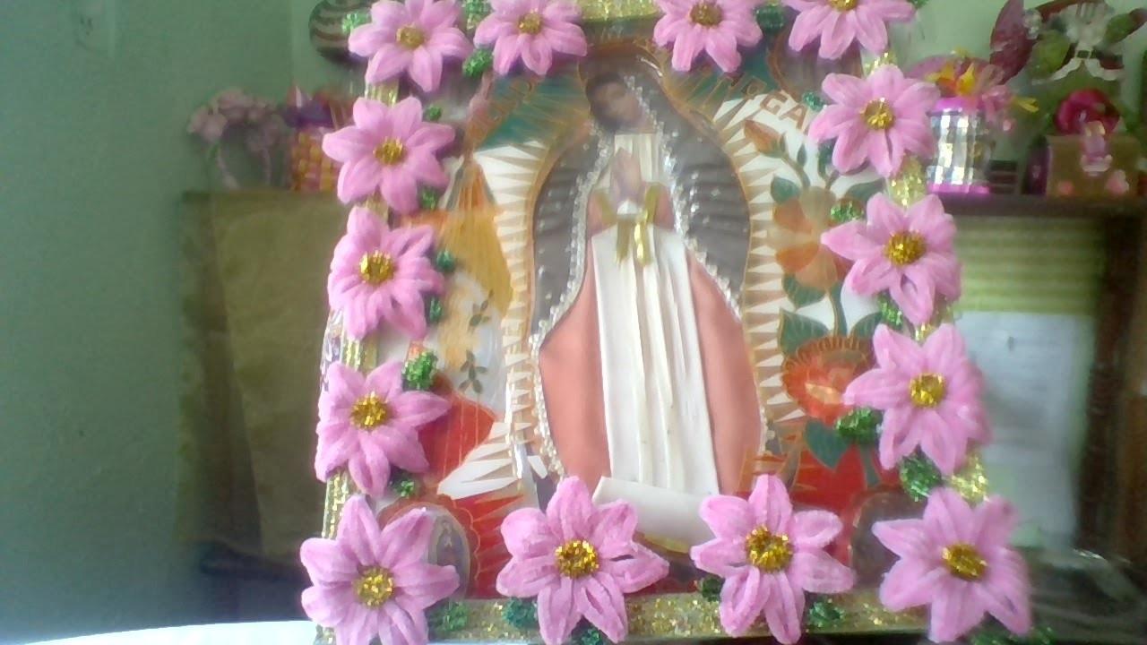 12 de Dic dia de la Virgen de Guadalupe, idea para adornar tu Virgen  MDulceCreación