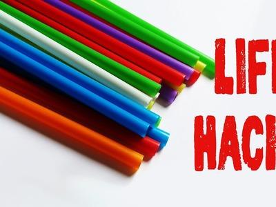 6 Life hacks ó trucos caseros con pitillos  - pajitas