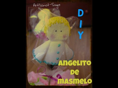 Angelitos con masmelo- DIY cualquier ocasion (glass para decoracion comestible)