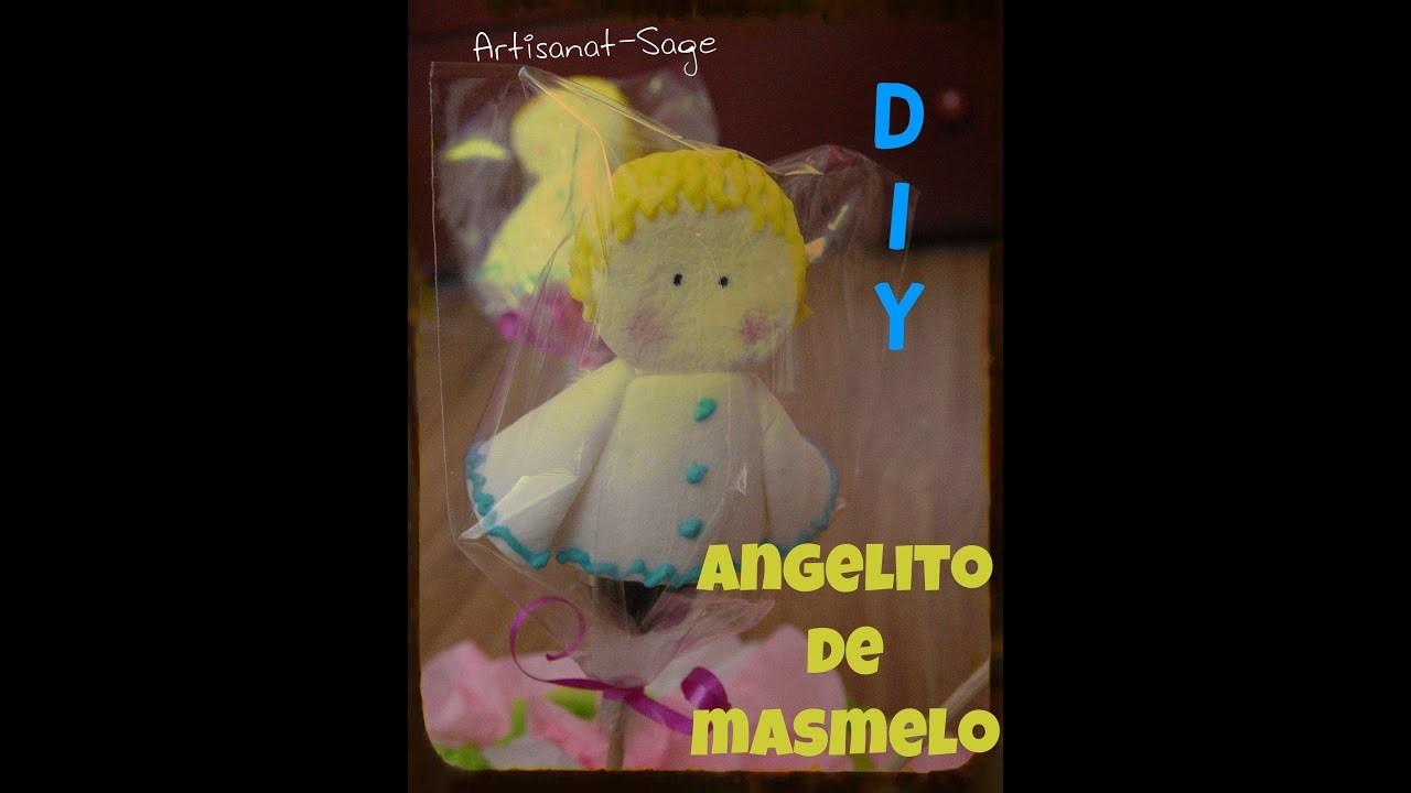 Angelitos con masmelo- DIY cualquier ocasion (glass para decoracion comestible)