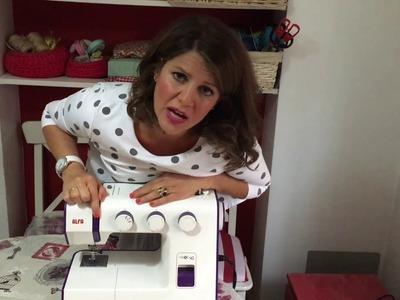 Aprendiendo a coser a máquina. Tutorial online de costura.