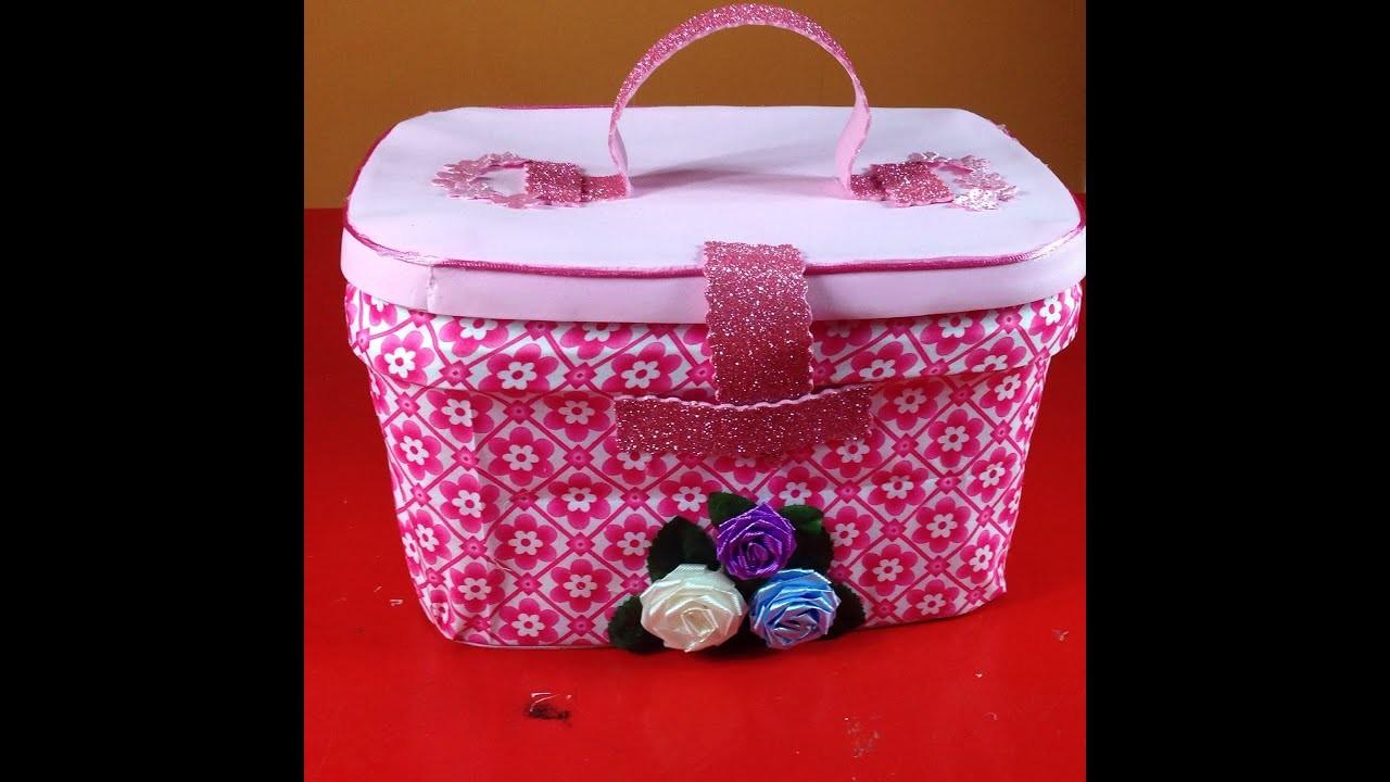 Caja decorada - Box decorated with fabric