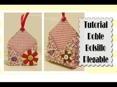 Cómo hacer Doble Bolsillo Plegable de papel | Luisa PaperCrafts