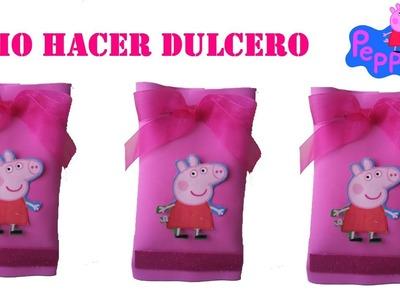 COMO HACER DULCERO  DE FOAMY DE PEPPA PIG
