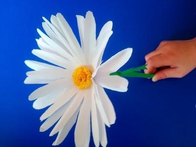 Como hacer flores de papel (camomilas) facil.  Manualidad para el día de las madres