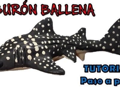 Como hacer un tiburón ballena de plastilina. How to make a whale shark with clay